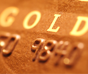 Gold and platinum credit cards